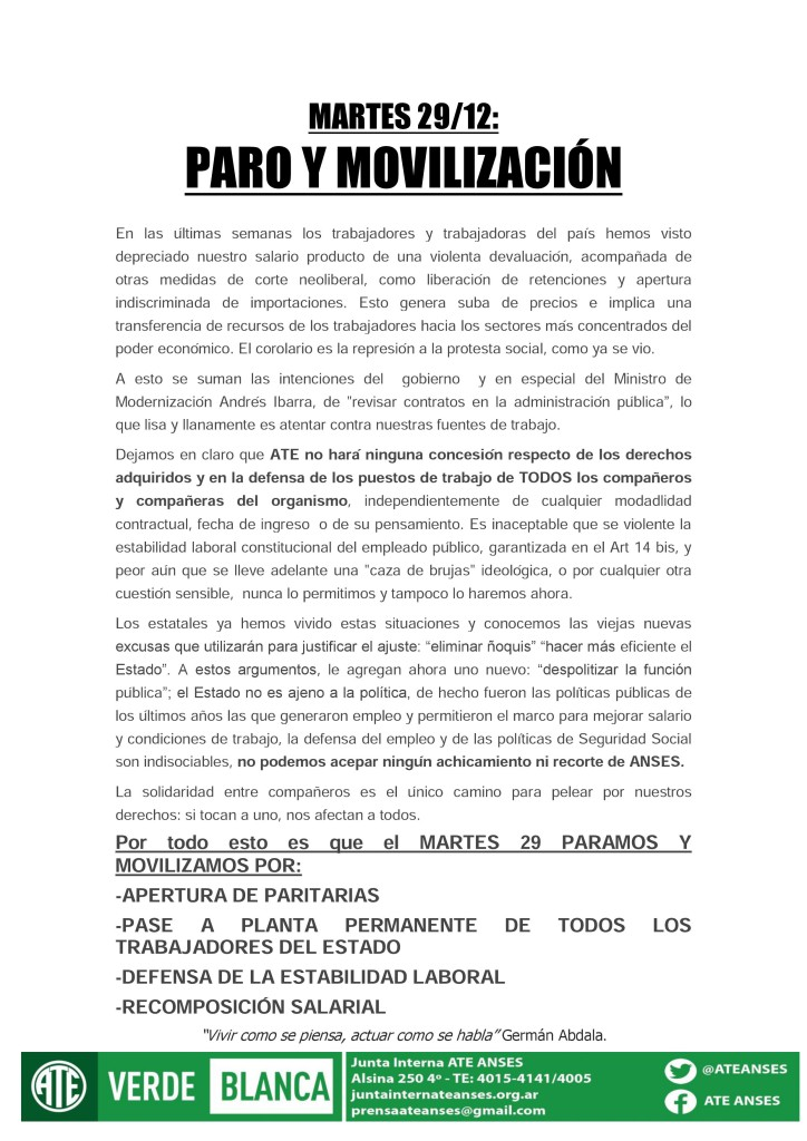 Paro y MovilizaciA?n (28-12-15)