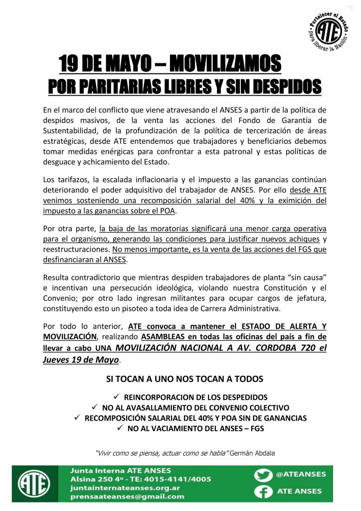 19 de Mayo Movilizamos (13-05-16)
