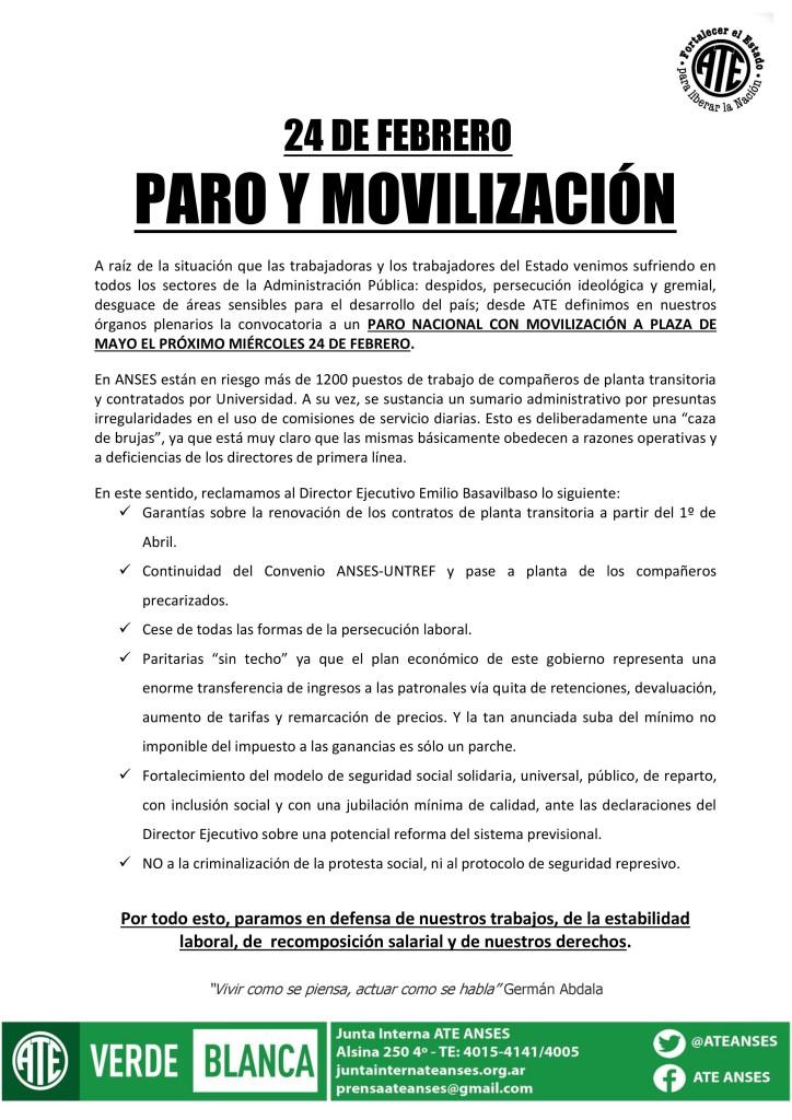 24F Paro y MovilizaciA?n (22-02-16)