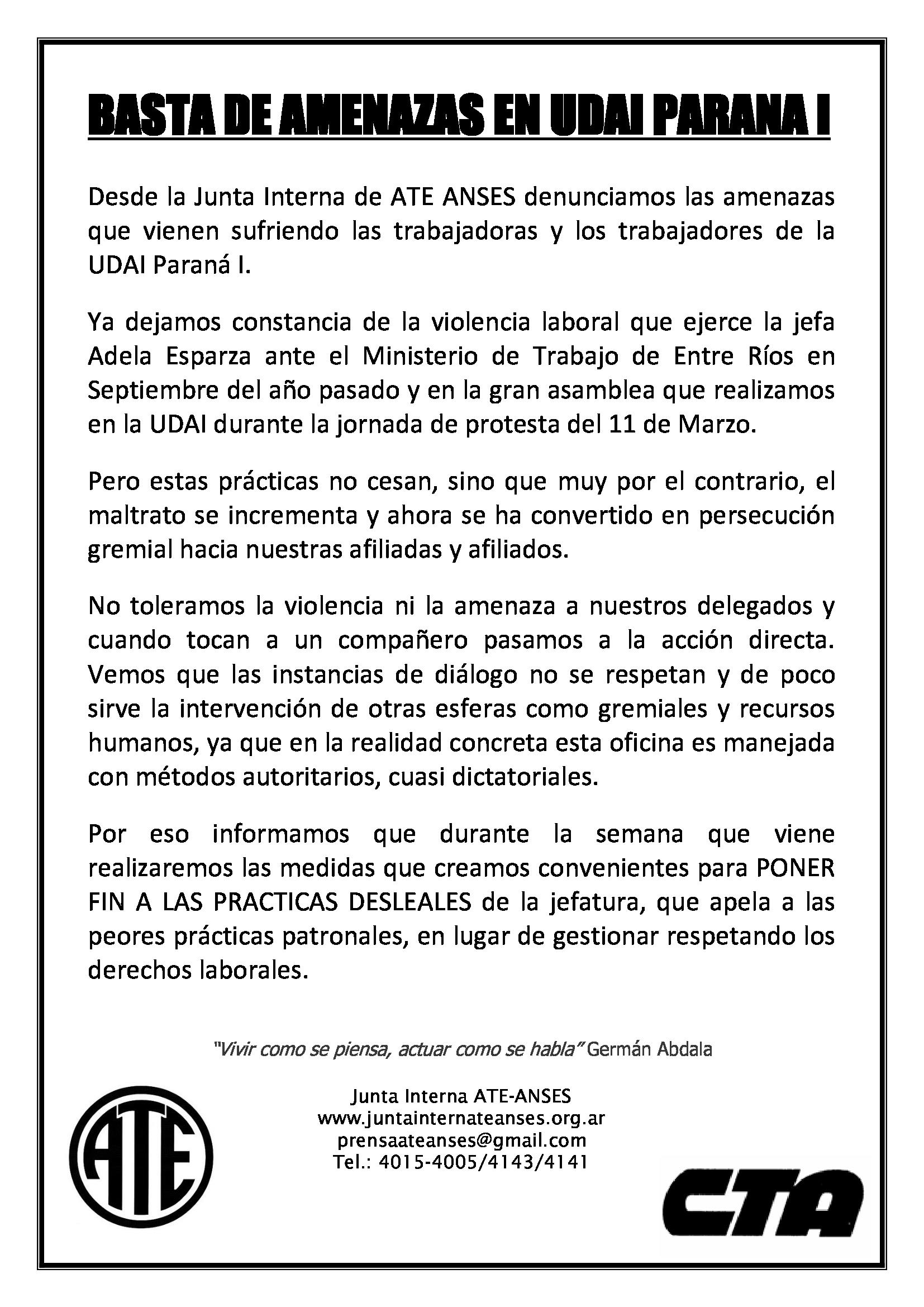 Basta_de_Amenazas_en_UDAI_PARANA_I