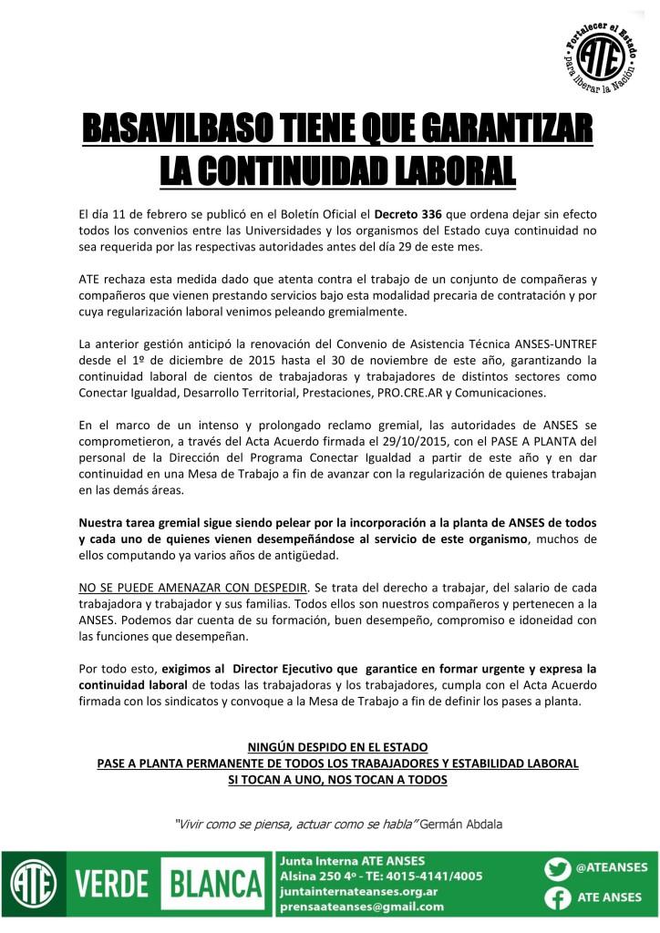 Garantizar la Continuidad Laboral (15-02-16)