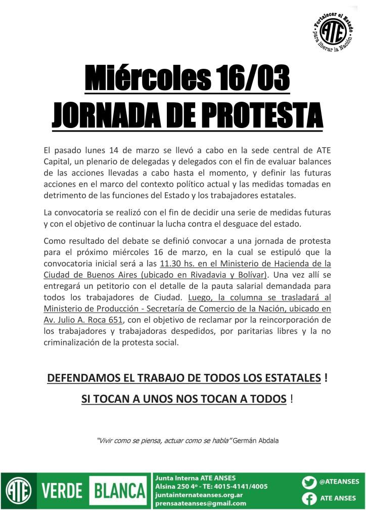 Jornada de Protesta (15-03-16)